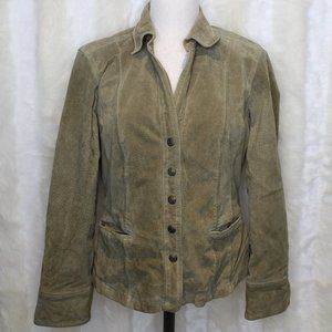 Live a Little Olive Green Suede Leather Jacket